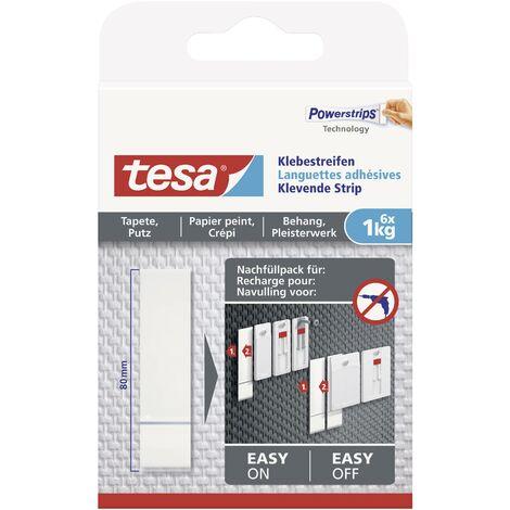 Languettes adhésives tesa® tesa 77771-00000-00 blanc 6 pc(s) W680501