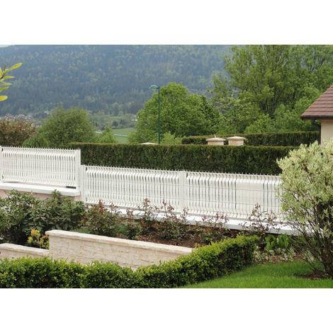 Lanière PVC pour palissade largeur 43 mm x 60 m+100 clips- Blanc