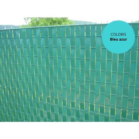 Lanière PVC pour palissade largeur 43 mm x 60 m+100 clips- Bleu azur