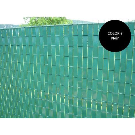Lanière PVC pour palissade largeur 43 mm x 60 m+100 clips- Noir
