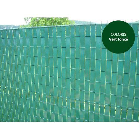Lanière PVC pour palissade largeur 43 mm x 60 m+100 clips- Vert Foncé