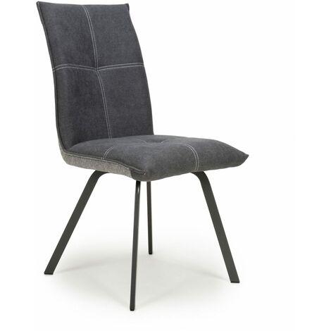 Lanta Linen Effect Dark Grey Chair