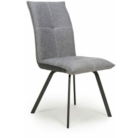 Lanta Linen Effect Light Grey Chair