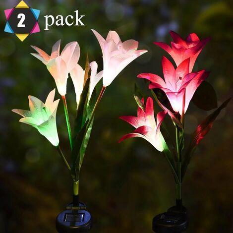"main image of ""LANTERN LED LANTERN SOLAIRE LANTER LANTERN LED Simulation Color Lawn Lamp Plug-in Electric Light Garden Decoration Lantern LED-"""