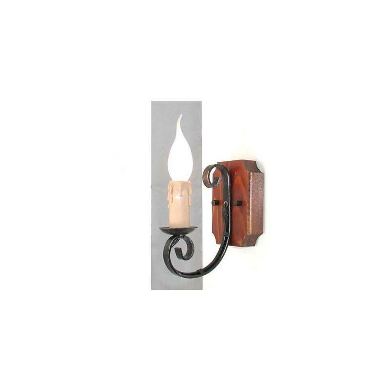 Lanterna 1 luce wood a muro lampade lampione applique plafoniera cm16