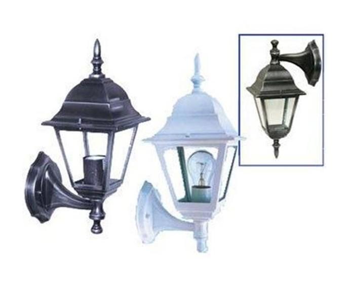 Lanterna Parete Esterno : Lanterna applique a parete per esterno modello vienna bianca