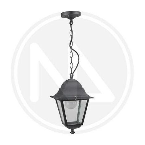 Vienna Nero 15x15xh.35 Cm. Lampada Lanterna Con Catena Da Giardino Mod
