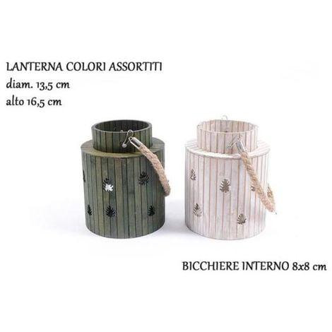 Lanterna Legno Jungle 16,5cm