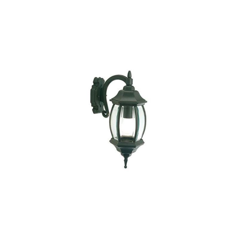 Applique in basso con vetro molato lampada da esterno grigio