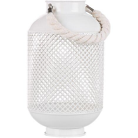 Lanterne blanche ajourée au style marocain