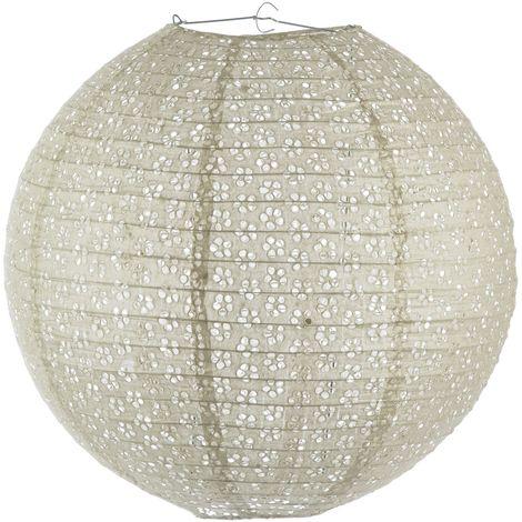 Lanterne Boule ajourée - Diam. 45 cm. - Taupe