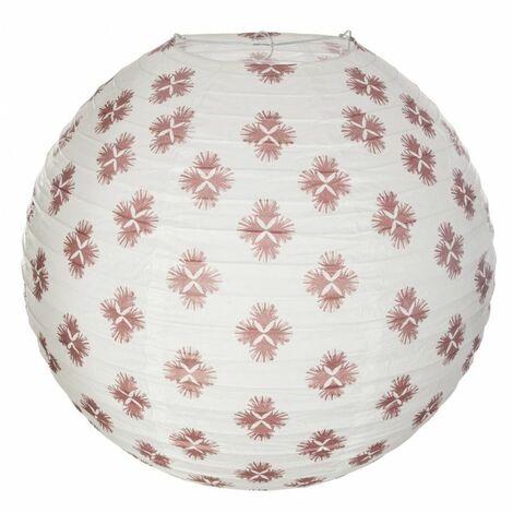 Lanterne boule ethnique - D 45 cm - Rouge