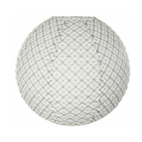 Lanterne boule vintage - D 45 cm - Blanc