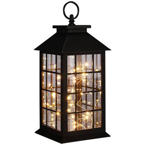 Lanterne décorative LED, guirlandes lumineuses, H 31,5 cm