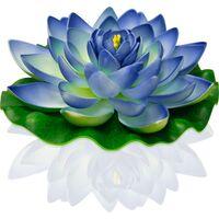 Lanterne Flottante Lotus Natural Bleue Indigo - Bleu Turquoise