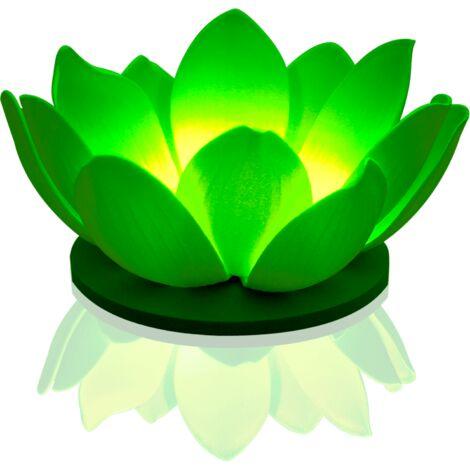 Lanterne Flottante Nymphea LED Vert - vert