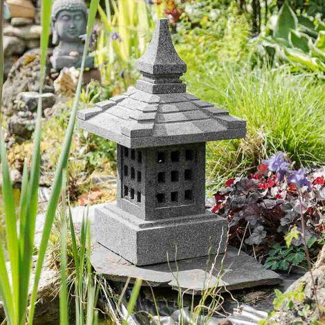 """main image of """"Lanterne japonaise en pierre de lave de 55cm"""""""