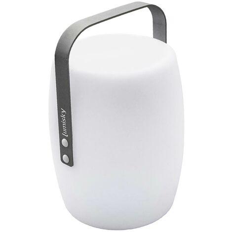 Lanterne sans fil poignée aluminium LED blanc chaud/blanc dimmable LUCY ROCK H31cm