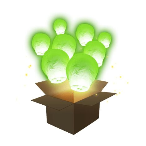 Lanterne Volante Balloon Vert x3