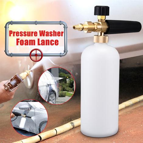 Lanza de presión botella de espuma 1L 2000PSI - 5000PSI para Aldi Workzone Ryobi Vax Qualcast Parkside Sasicare