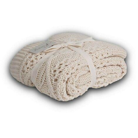 Lanza Silvi - Tartan - para el sofa, la cama - Beige en Acrilico, 130 x 170 cm