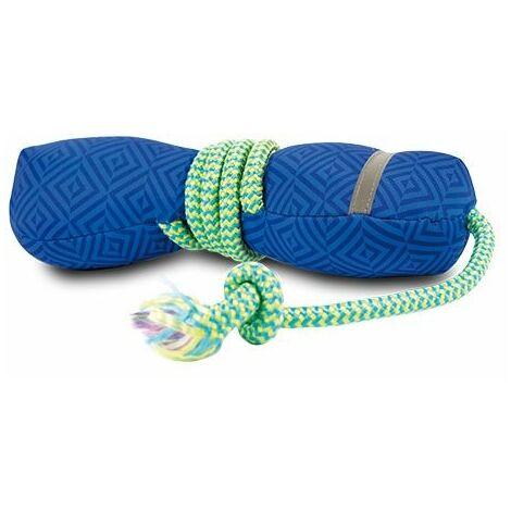 Lanzador flotante con cuerda, juguete para perros, fabricado de material ligero, interior con pito que emite sonido