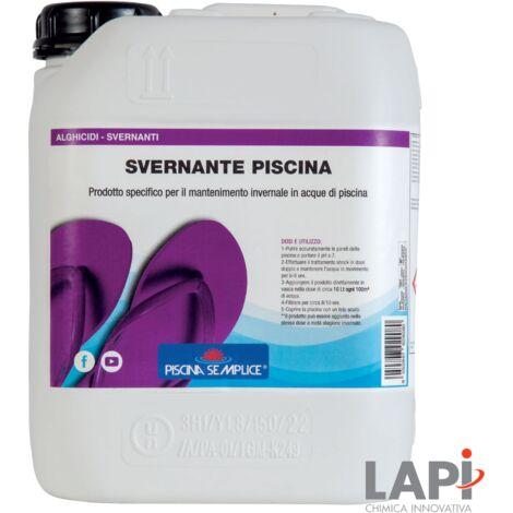 "main image of ""Lapi Svernante Piscina 5 Lt Antibatterico Alghicida Anticalcare Swinter Lento Rilascio"""