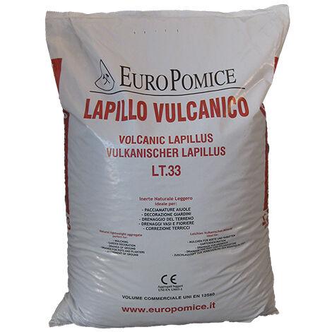 Lapillo vulcanico in sabbia, lava vulcanica 0/3 mm (c.ca 39 kg - 33 lt)