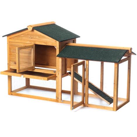 Lapins de compagnie Bunny Hutch Run Poulailler Cage pour cochons d'Inde Animal House Deluxe Large