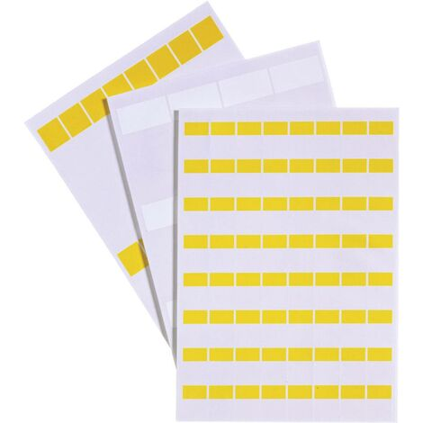LAPP 83256160 LCK-48 WH Etiquette Fleximark 34 x 25.40 mm Couleur de la surface de marquage: blanc Nombre d\'étiquettes: 18 X73952