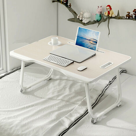 Laptop Stand Table Desk Adjustable Portable Cup Slot Fordable 60*42*28cm