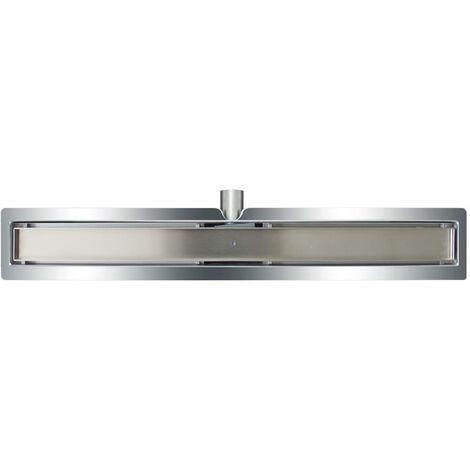 L'Aqua Desagüe lineal de ducha baldosa 80 cm acero inoxidable