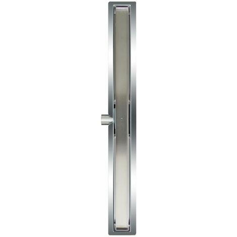 L'Aqua Desagüe lineal de ducha baldosa 90 cm acero inoxidable