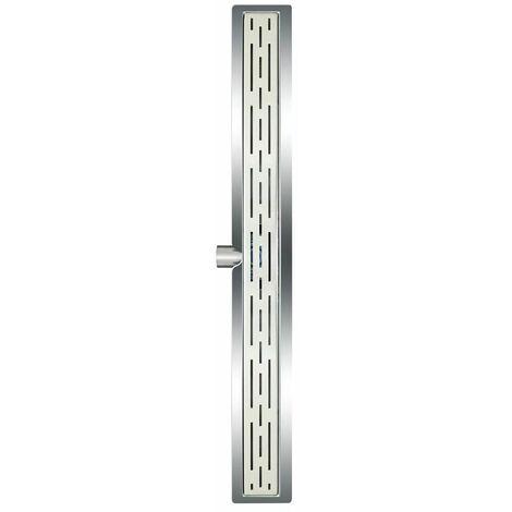 L'Aqua Desagüe lineal de ducha clásico 80 cm acero inoxidable
