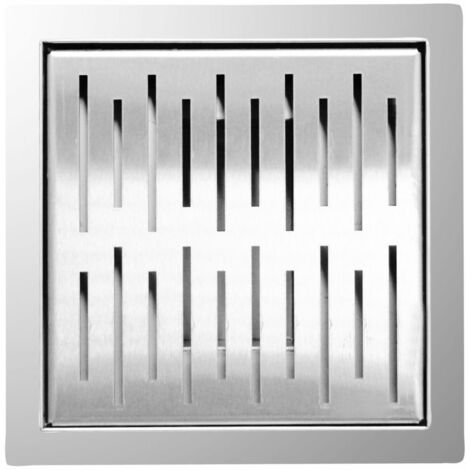 L'Aqua Shower Drain 20x20 cm Square Stainless Steel