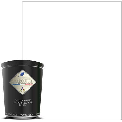 Laque acrylique satin – meubles, bois, murs et plafonds - 1 ltr Blanc - Ecce homo