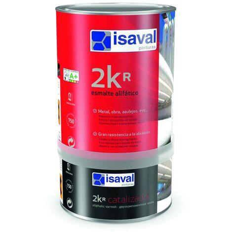 Laque aliphatique 2kr + catalyser 4 litres Brillant RAL 7004 Gris Sécurité - isaval