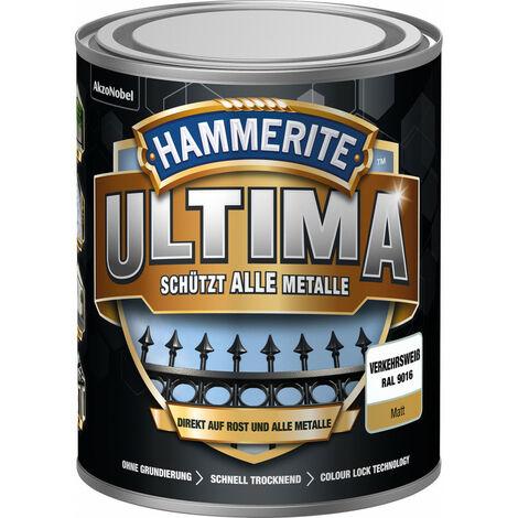 Laque de protection des métaux matt Ultima (WB) 750 ml de blanc de la circulation (Par 3)