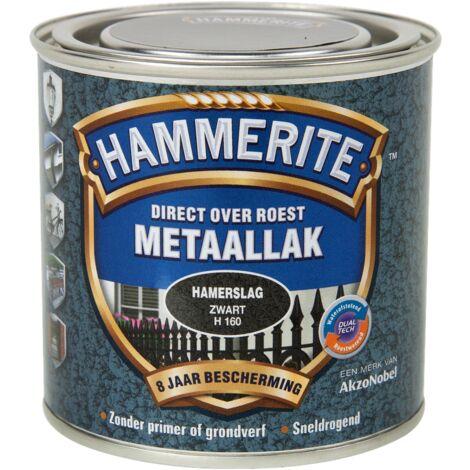 Laque métaux Hammerite martelé Noir - 2,5L