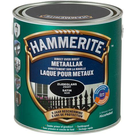 Laque métaux Hammerite Satiné Noir - 2,5L