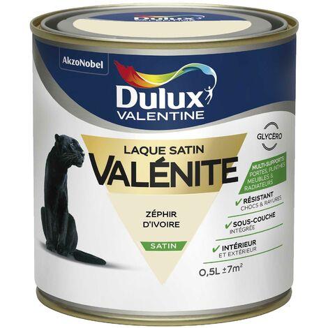 Peinture Laque Valénite Satin Zéphir D'Ivoire 0,5 L - Dulux Valentine