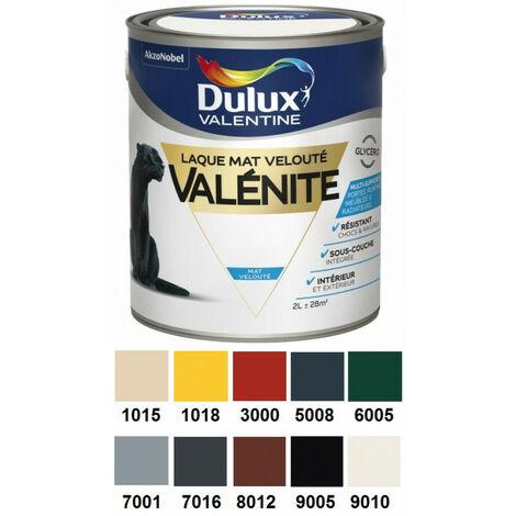 Laque Valénite mat velouté au RAL 2L DULUX VALENTINE - plusieurs modèles disponibles