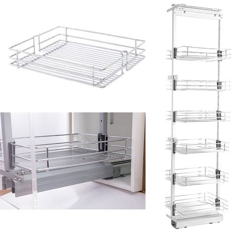 Larder Pull Out Wire Basket Kitchen Cabinet Cupboard