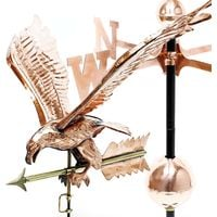 Large 3D Relief Weather Eagle Weather Vane wind chime copper with foot