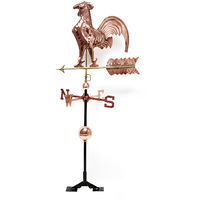 Large 3D Relief Weatherrooster Weathervane wind chime copper with foot