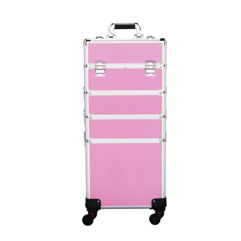 Large 4 in 1 Cosmetics Case Beauty Makeup Case Trolley Box Nail art Storage Jewelry Luggage Cases