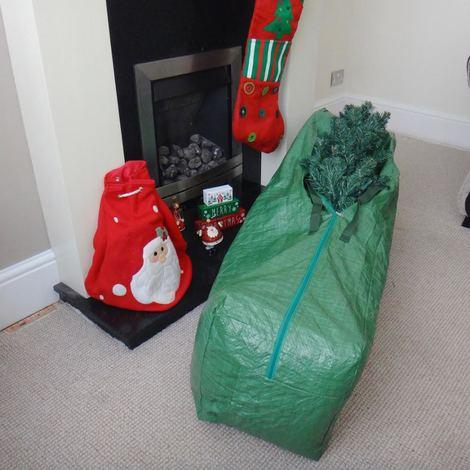 Large Artificial Christmas Tree Storage Bag Xmas Loft Tidy 120cm x 33cm x 30cm