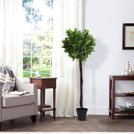 Large Artificial Potted Topiary Laurel Tree