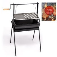 Large Assador Argentino Wood Fired BBQ Grill and Plancha