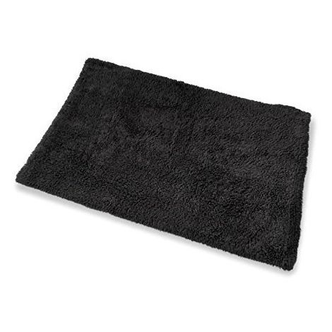 Large Bath Mat - Black Colour - By Blue Canyon - 100% Cotton